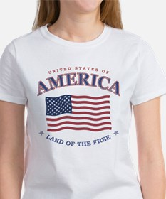 4th of July, American flag Tee