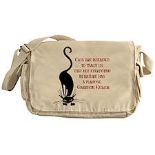 Cats Teach Us Messenger Bag