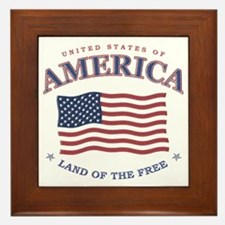 Patriotic Flag Framed Tile