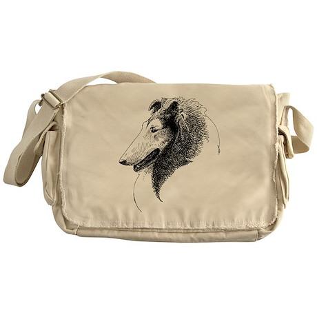 Rough Collie Profile Messenger Bag