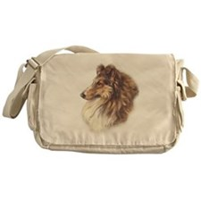 Vintage Sable Collie Messenger Bag