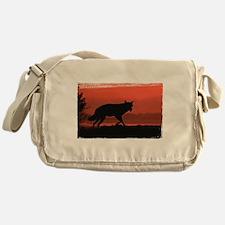 Sunset Wolf Messenger Bag