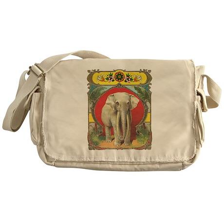 White Elephant Messenger Bag