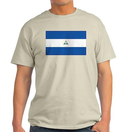 Nicaraguan Flag Ash Grey T-Shirt