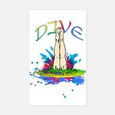 Colorful Dive Decal
