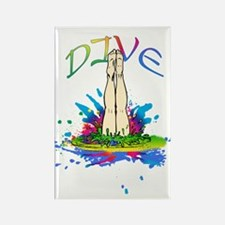Colorful Dive Rectangle Magnet