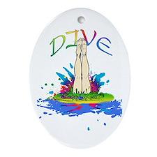 Colorful Dive Ornament (Oval)