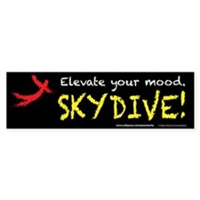 Elevate Your Mood Skydiver Car Sticker