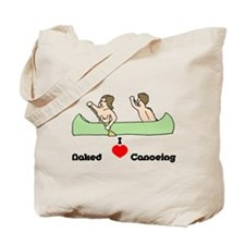 I Love Naked Canoeing Tote Bag