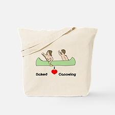 I Love Naked Canoeing Tote Bag