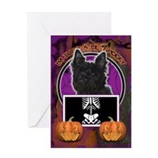 Just a Lil Spooky Cairn Greeting Card