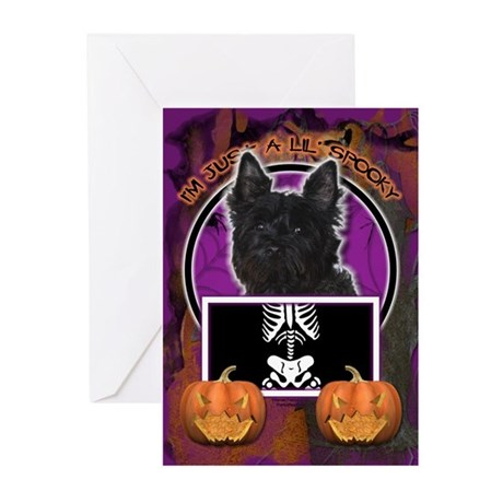 Just a Lil Spooky Cairn Greeting Cards (Pk of 20)