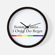 Sorry Girls I Only Do Boys Wall Clock