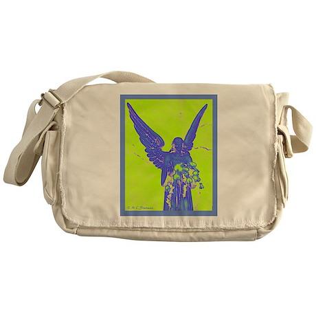 Angel, digital art, Messenger Bag