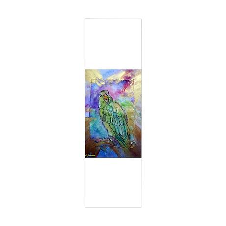 Beautiful, Green, Parrot, 42x14 Wall Peel