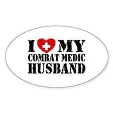 I Love My Combat Medic Husband Decal