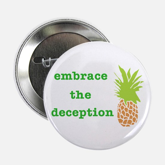 "Unique Pineapple 2.25"" Button"