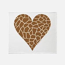 I Love Giraffes Throw Blanket