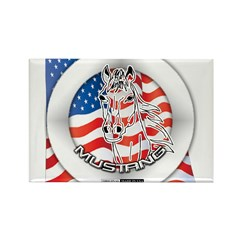 A Mustang Horse Rectangle Magnet (100 pack)