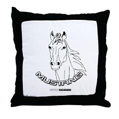 Mustang Plain Horse Throw Pillow