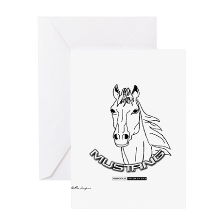 Mustang Plain Horse Greeting Card