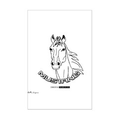 Mustang Plain Horse Posters