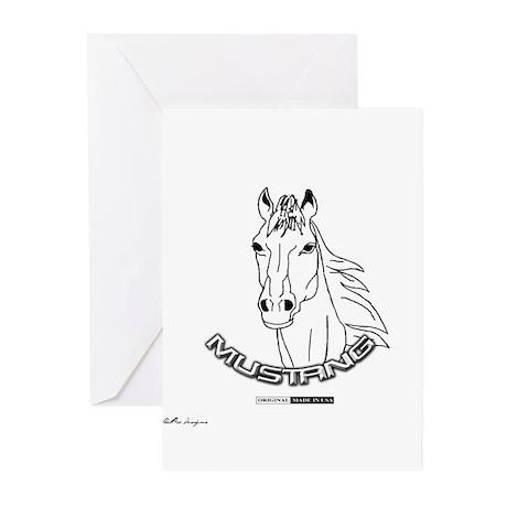 Mustang Plain Horse Greeting Cards (Pk of 10)