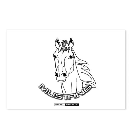 Mustang Plain Horse Postcards (Package of 8)