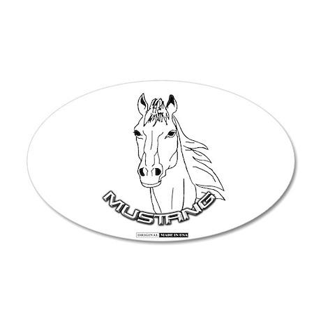 Mustang Plain Horse 22x14 Oval Wall Peel