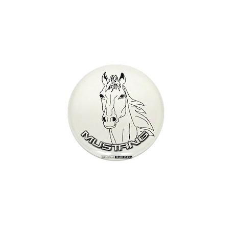 Mustang Plain Horse Mini Button (10 pack)