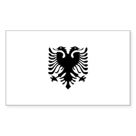 Albanian Eagle Sticker (Rectangle 10 pk)