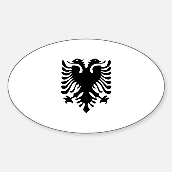 Albanian Eagle Sticker (Oval 10 pk)