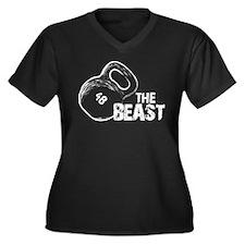 The Beast 48kg Kettlebell Women's Plus Size V-Neck