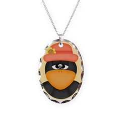 Fall Crow Necklace