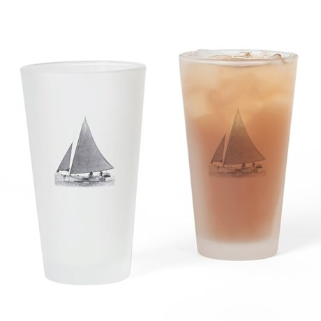 Skipjack Sailboat Drinking Glass