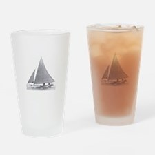 Skipjack Sailboat Drinking Glass