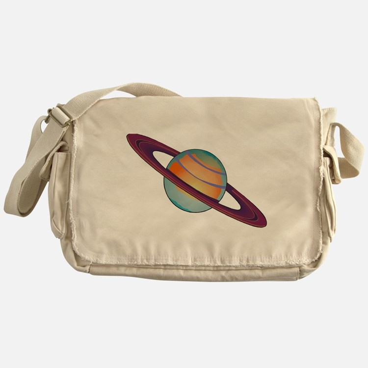 Planet Saturn Messenger Bag