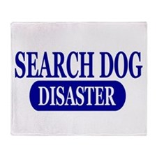 Disaster Search Dog Throw Blanket