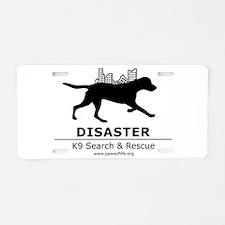 Running Dog Aluminum License Plate