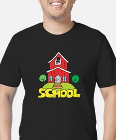 School House Men's Fitted T-Shirt (dark)