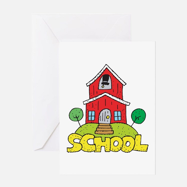 School House Greeting Card