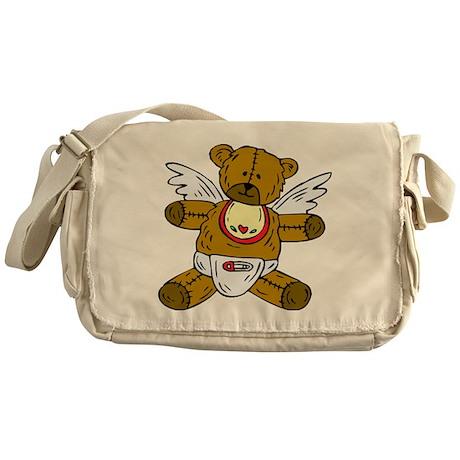 Baby Teddy Bear Angel Messenger Bag