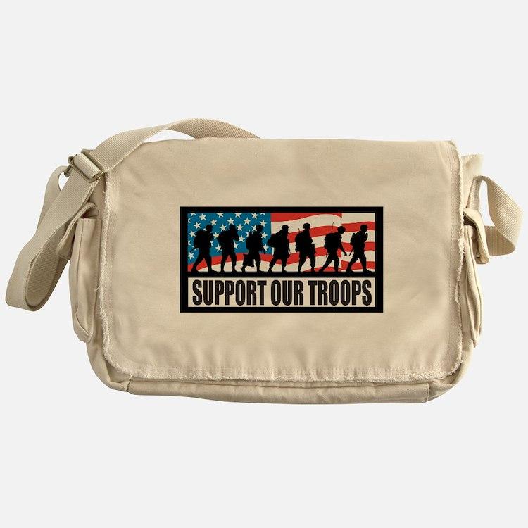 Support our troops - Infantry Messenger Bag