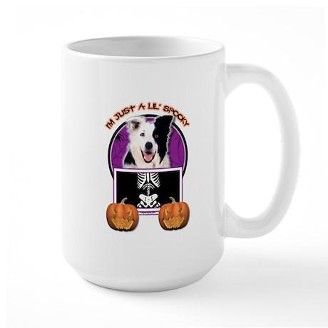 Just a Lil Spooky Border Collie Large Mug