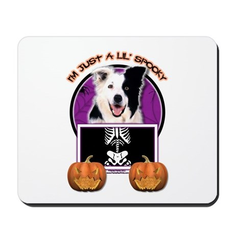 Just a Lil Spooky Border Collie Mousepad