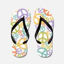 Multi-Peace White Flip Flops