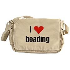 I Love Beading Messenger Bag
