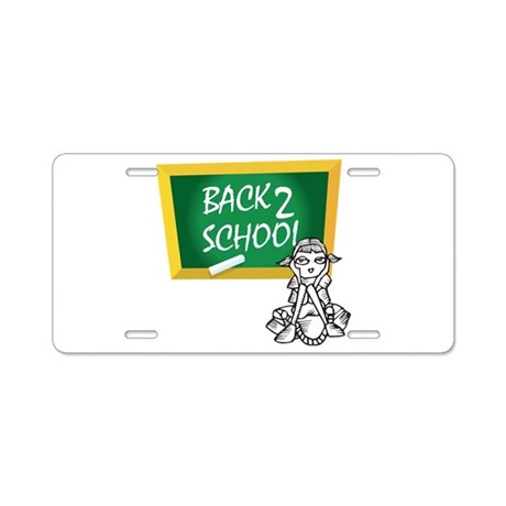 Back 2 School Aluminum License Plate