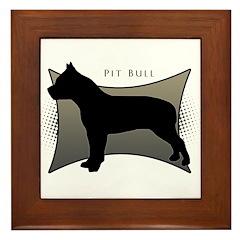 Pit Bull Framed Tile