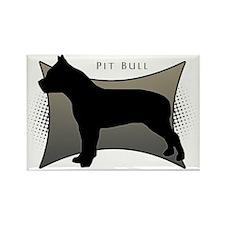 Pit Bull Rectangle Magnet